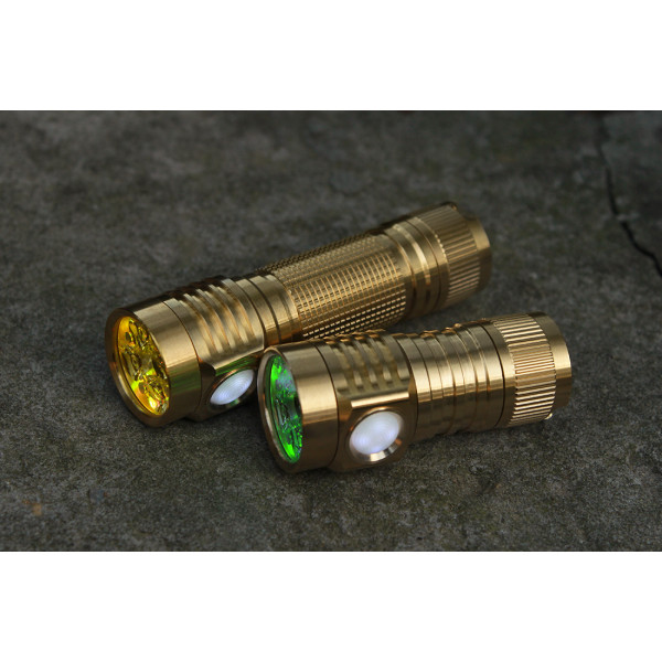 Emisar D4V2 Brass Quad 18650 High Power LED Flashlight
