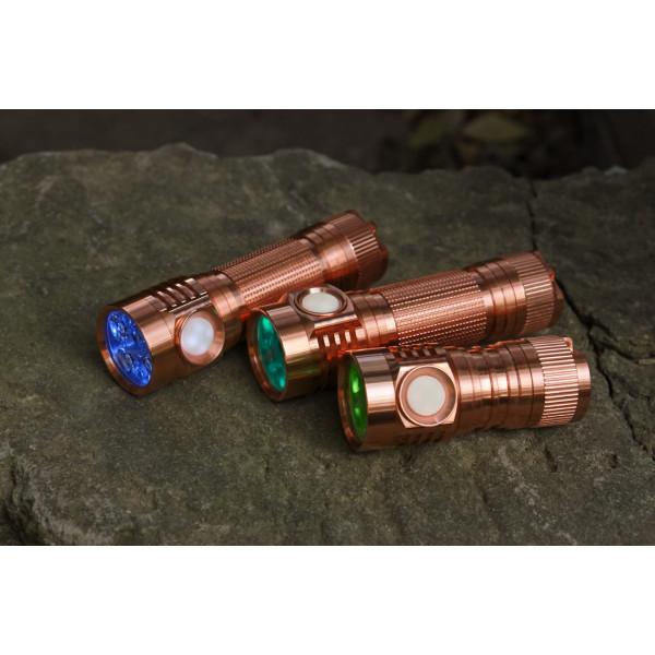 D4V2 All Copper Quad 18650 LED Flashlight